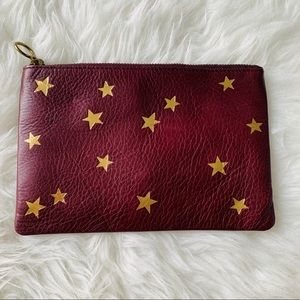 NWT Madewell The Leather Pouch Clutch Star Edition